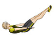 Woman doing exercises for press