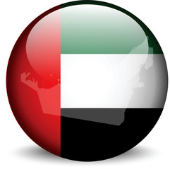 flag in button of UAE