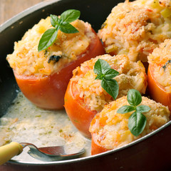 stuffed tomatoes and rice