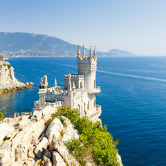 Cut-away of the South Coast of Crimea Yalta, Swallow's Nest Cast