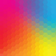 Vector Colorful Hexagon Background