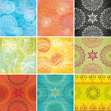 Stor uppsättning av texturer med indiska mönster