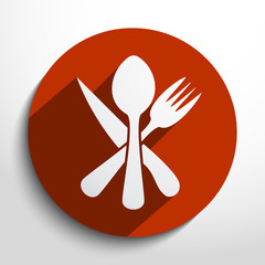 Vector disware and cutlery web icon
