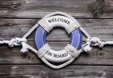 Welcome on board - maritime Dekoration für eine Kreuzfahrt