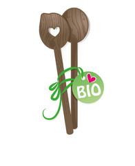 Holzlöffel mit Herz,Bio,Rezept,Etikett,Anhänger,Bioprodukte