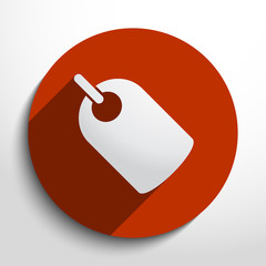 Vector label web icon