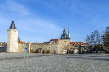 Muehlhausen, inner woman gate at historic town