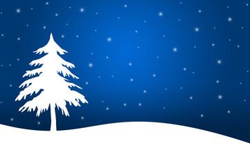 Winterlandschaft mit Tannenbaum