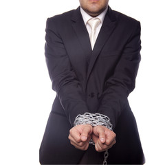 Businessman with chain