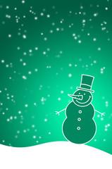 Vorlage mit Schneemann