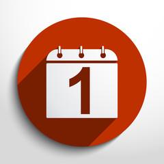 Vector calendar organizer web icon