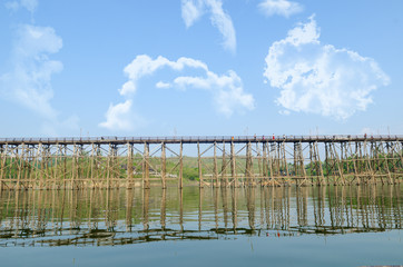 The oldest and longest wooden bridge in Thailand.