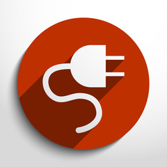 Vector electrical plug web icon