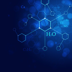 Science Blue Background