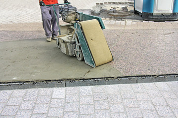 Grouting compound street