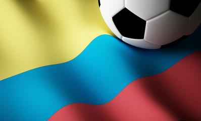 Colombian flag, football