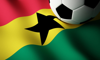 Ghana flag, football
