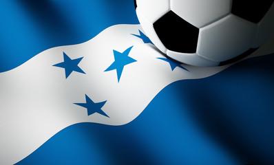 Honduras flag, football
