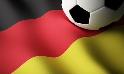 German flag, football