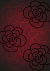 abstract background of roses