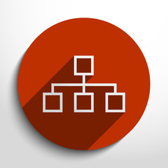 Vector network web icon