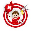 Switzerland Soccer Fan Flag Cartoon