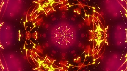 abstract kaleidoscope motion background, loop