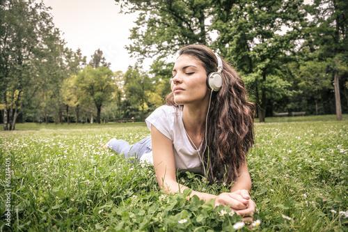 music in a field