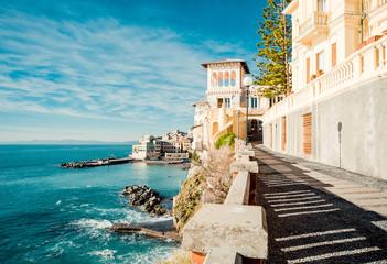 View of Bogliasco. Italian Riviera