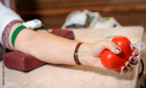 Preparation to blood donation