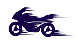 Fototapety motorbike with speed effect vector