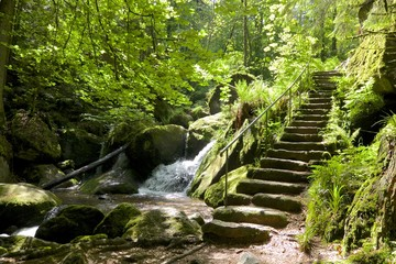 Gertelbach stairs and waterfall