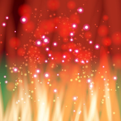 Flame with sparkles
