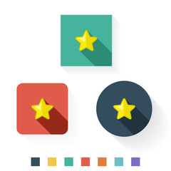 Star Flat Icon Design Kit Set Collection