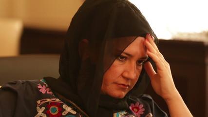Sad muslim woman