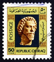 Postage stamp Iraq 1976 Head of Bearded Man