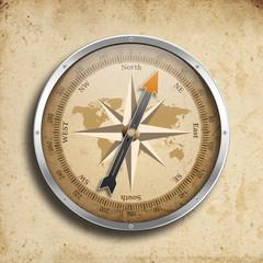 Kompass auf altem Papier