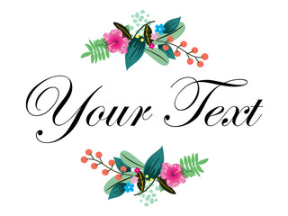 your text flower