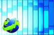 globe blue tech illustration design over a blue background