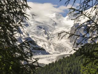 Bernina, Pass, Morteratsch, Gletscher, Alpen, Schweiz