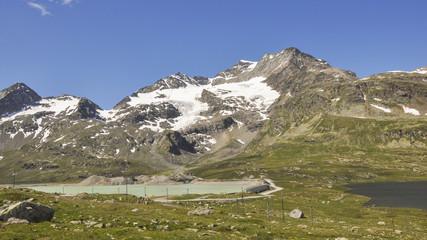 Bernina, Stausee, Pass, Passstrasse, Alpen, Schweiz