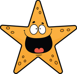 Happy Cartoon Starfish