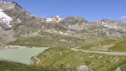 Bernina, Berninapass, Bergsee, Stausee, Alpen, Schweiz
