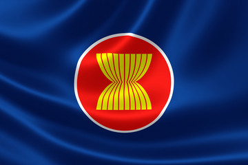 ASEAN Flag Close Up