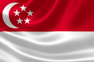 Flag of Singapore Close Up
