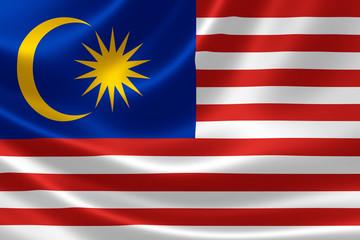 Malaysian Flag Close Up