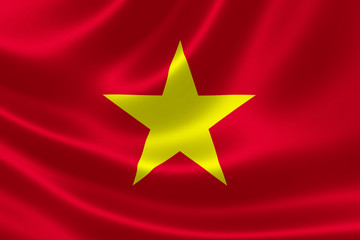 Vietnamese Flag Close Up