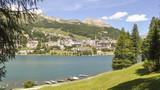 St. Moritz, Dorf, Schweizer Alpen, See, Graubünden