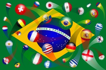 Brazil. Soccer World Cup. 32 teams