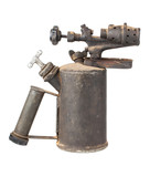 Old rusty blowtorch poster